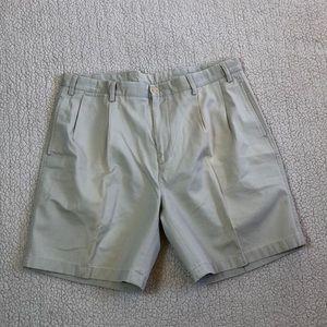 Nautica tan pleat front shorts